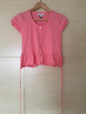 Süße T-Shirt-Jacke von Mango in pink, Größe XS/S