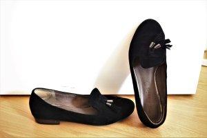 Tamaris Bailarinas sin talón negro Gamuza