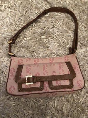 Süße Tasche - rosa mit Echtleder und Gold Applikationen (Ralph Lauren)