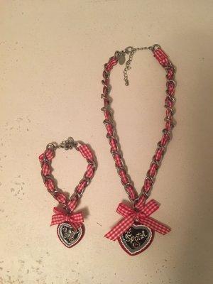 Süße Trachten Halskette mit passendem Armband von Schmuck Art