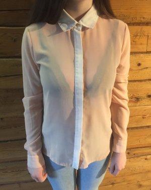 Süße transparente Bluse, Gr. S apricot