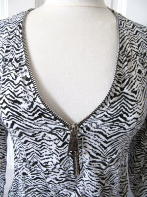 Süße Tunika Minikleid von Qed London Schwarz-Weiß Größe 36