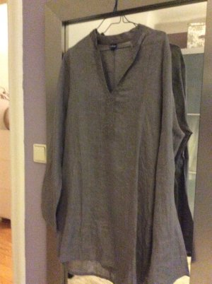 Tunic Blouse silver-colored linen