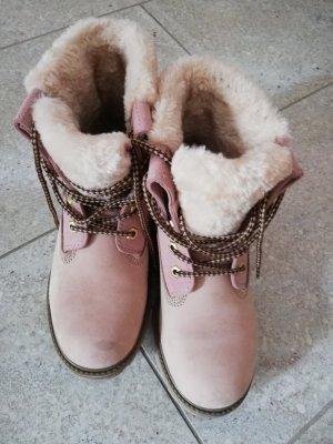 Deichmann Winter Booties pink leather