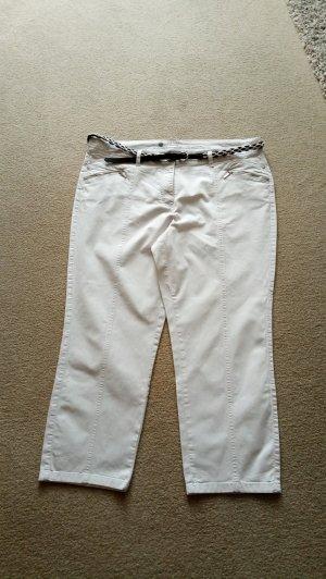 Süße weiße 7/8 Hose von Canda Gr. 48
