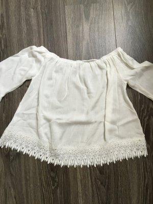 Süße weiße Off Shoulder Bluse