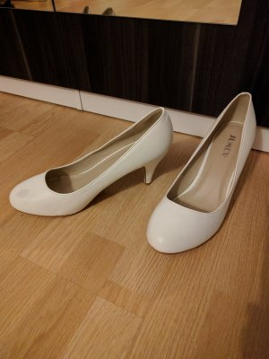 Süße weiße Pumps / high heels aus London