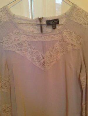 Süße weiße Topshop Bluse mit Spitze