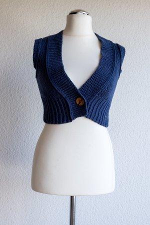 Campus Bolero lavorato a maglia blu-blu acciaio Cotone