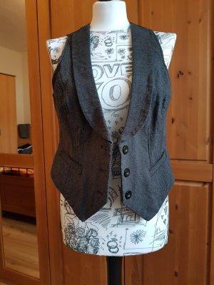 Colours of the World Gilet de costume noir-gris foncé