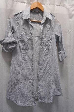 süße Zara Bluse, Hemdbluse, blau-weiß, Gr. S
