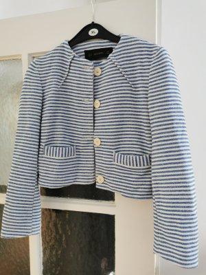 süsse Zara Jacke in weiss blau gestreift