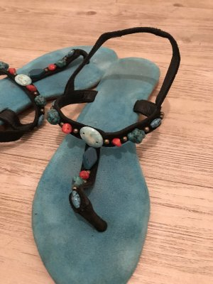 Sandalias con talón descubierto multicolor