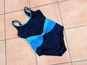 Süßer Badeanzug Figurwunder dunkelblau mit türkis Gr. 46 neuwertig!