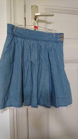 Süßer blauer Rock (Jeans ähnlicher Stoff)
