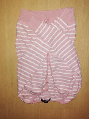 Amisu Cardigan bianco-color oro rosa