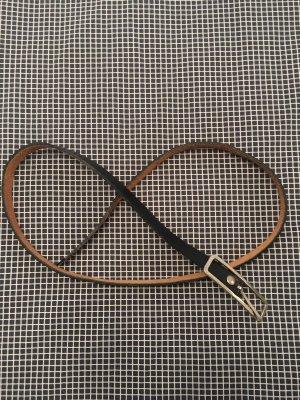 Süßer dünner Echtledergürtel schwarz l=ca. 104 cm (ohne Schnalle gemessen)