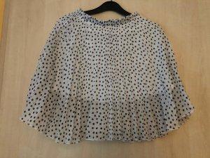 Amisu Pleated Skirt white-black