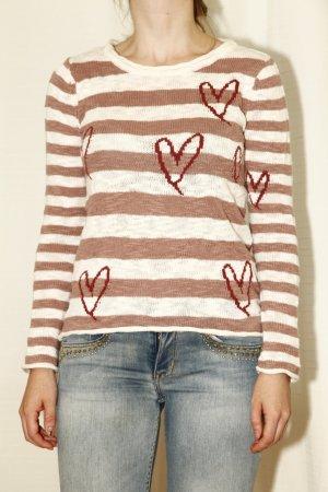 süßer, gestreifter Pullover aus Baumwolle