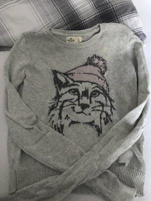 Süßer, grauer Pullover von Hollister, Größe S