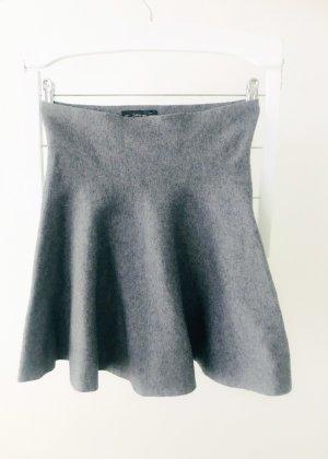 Zara Knit Jupe évasée gris