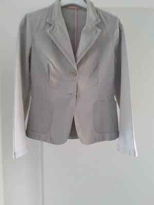 MaxMara Weekend Denim Blazer light grey-silver-colored cotton
