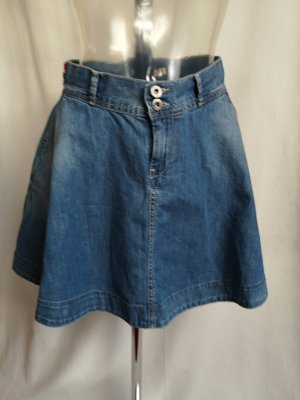 Pepe Jeans High Waist Skirt slate-gray-cornflower blue