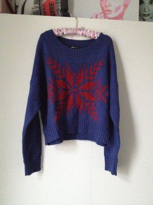 Gina Tricot Jersey estilo Noruego rojo ladrillo-azul