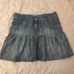 Süßer Jeans Minirock mit Falten
