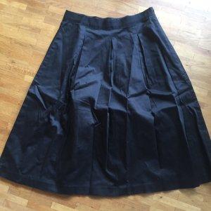 Hallhuber Jupe corolle noir coton