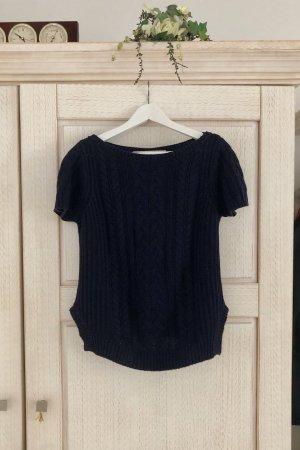 Zara Jersey de manga corta azul oscuro