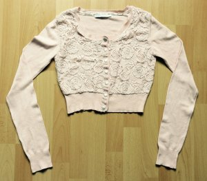 Only Knitted Bolero dusky pink mixture fibre