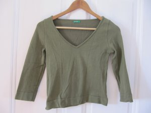 Süßer Kurzpulli von Benetton Khaki Pulli Shirt