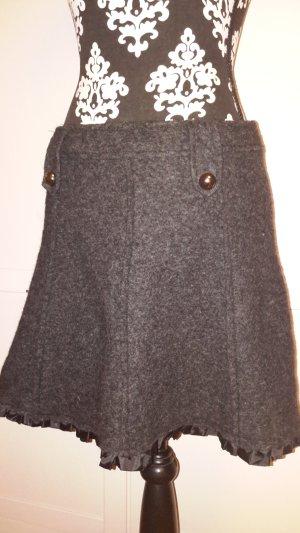 Made in Italy Falda gris oscuro-gris antracita