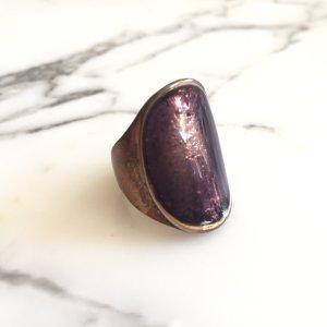 Süßer lila-goldener Ring #Mango