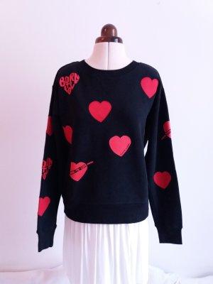 Maison Scotch Sweatshirt zwart-rood