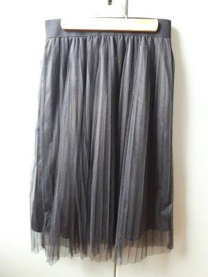 Amisu Plooirok zwart Polyester