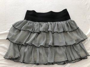 H&M Falda gitana blanco-negro