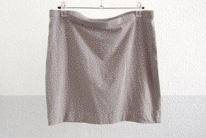 süßer Minirock von H&M, hellgrau mit Punkten, Größe M