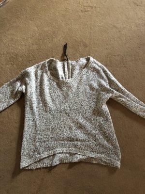 Zara Maglione oversize grigio chiaro-bianco