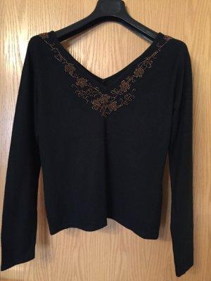 Marks and Spencer V-Neck Sweater black-dark brown