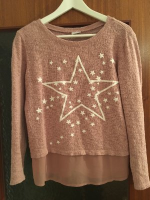 Aniston Sweater roségoud-wit