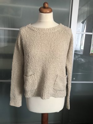 Atmosphere Coarse Knitted Sweater cream-oatmeal