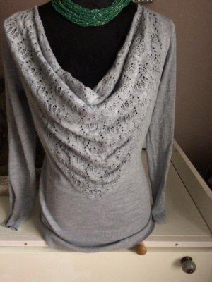 süsser Pullover grau von Laura Scott Gr. 36/38