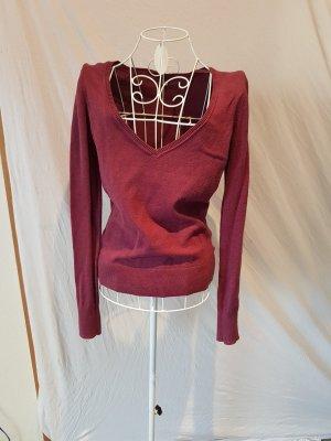 Süßer Pullover in Dunkelrot Gr. 38
