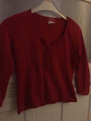 Süßer Pullover in knalligem Rot mit Bändchen von Esprit