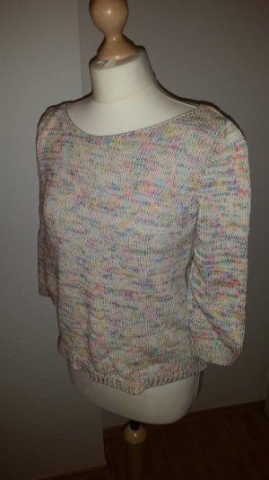 Süßer Pullover mit Loch-Detail am Rücken und bunter Webung