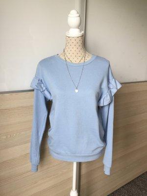 Süßer Pullover / Sweatshirt von H&M in Hellblau mit Volants