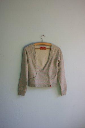 Süßer Pullover von edc grau rosa kurz geschnitten
