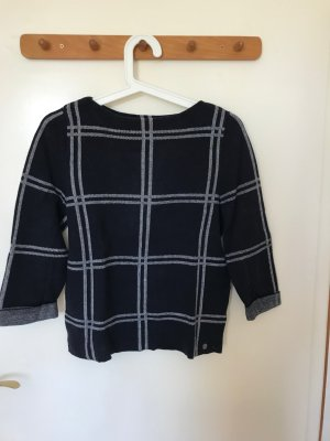 s.Oliver Short Sleeve Sweater dark blue-white